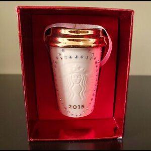 Brand new Starbucks Swarovski Ornaments white/gold